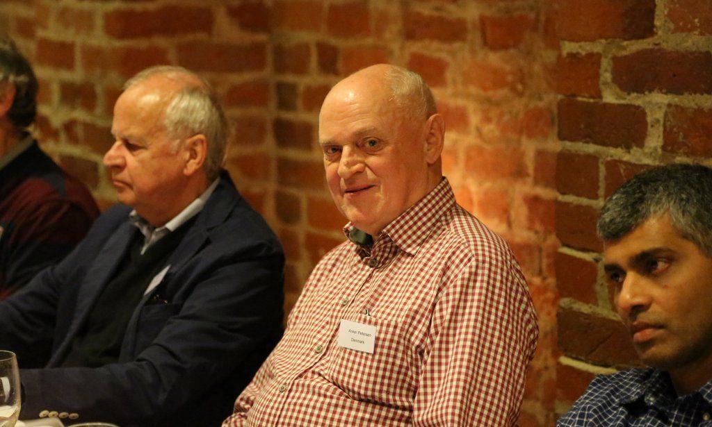 Anker Petersen hosts the final DSCWI dinner at a great restaurant in Kalundborg.