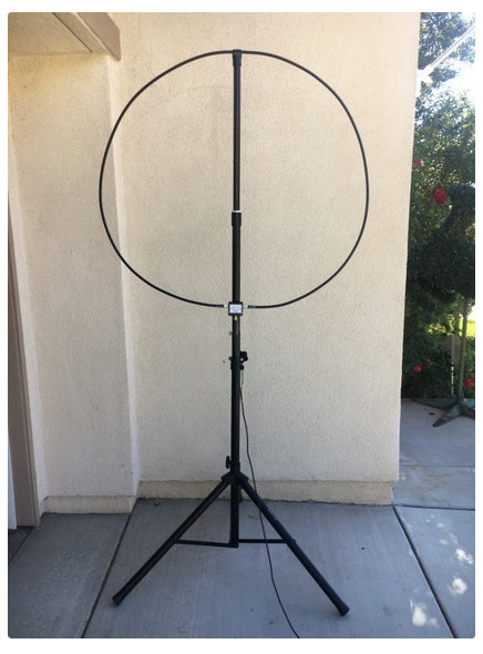 W6LVP magnetic loop antenna - loops cover 135 kHz - 30 MHz