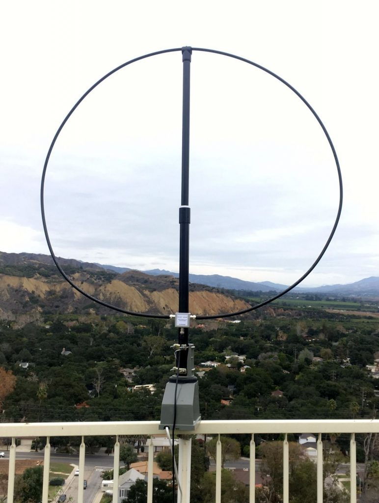 W6LVP magnetic loop antenna - loops cover 135 kHz - 30 MHz with no