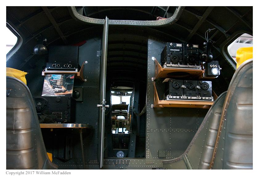 """Champaign Lady"" radio operator position"