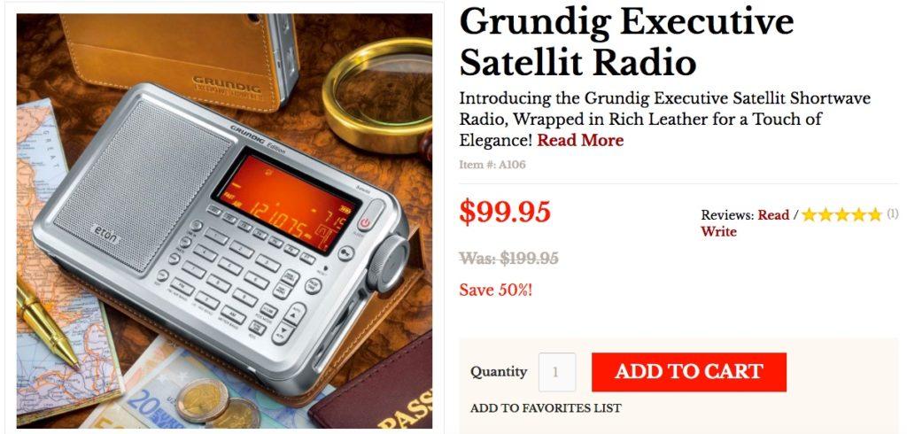 Radio deals half price