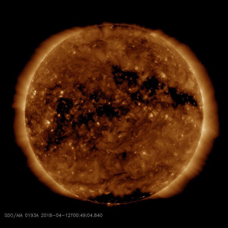 Coronal Hole Sun Space Weather