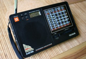 The Tecsun R-2010D portable shortwave radio.